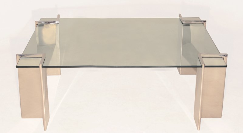 Pace stainless steel coffee table - 2
