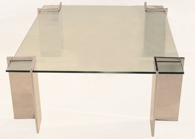 Pace stainless steel coffee table - 3