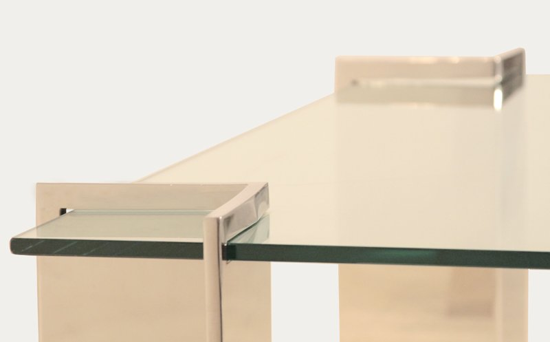 Pace stainless steel coffee table - 5