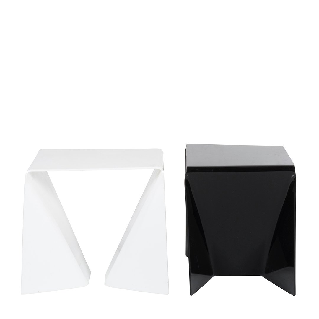 White and black acrylic tables - 2