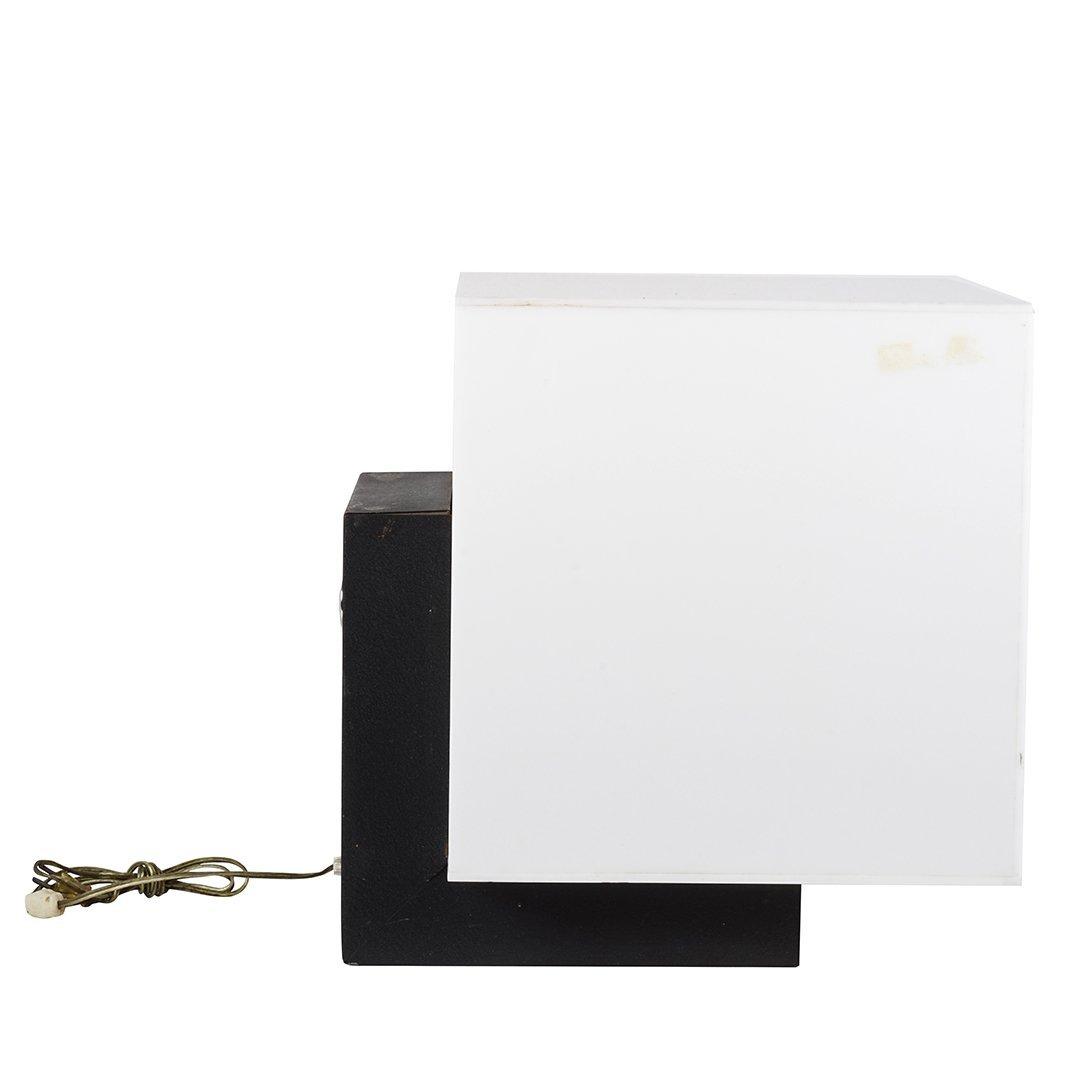 Acrylic cube floor lamp