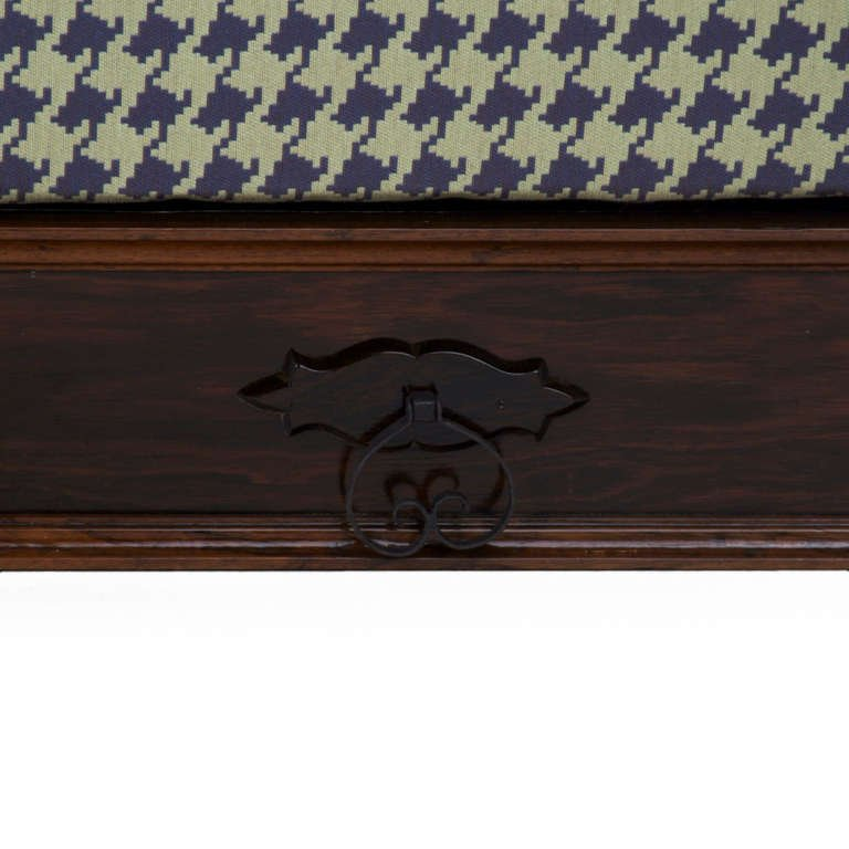 Carved rosewood daybed - 6