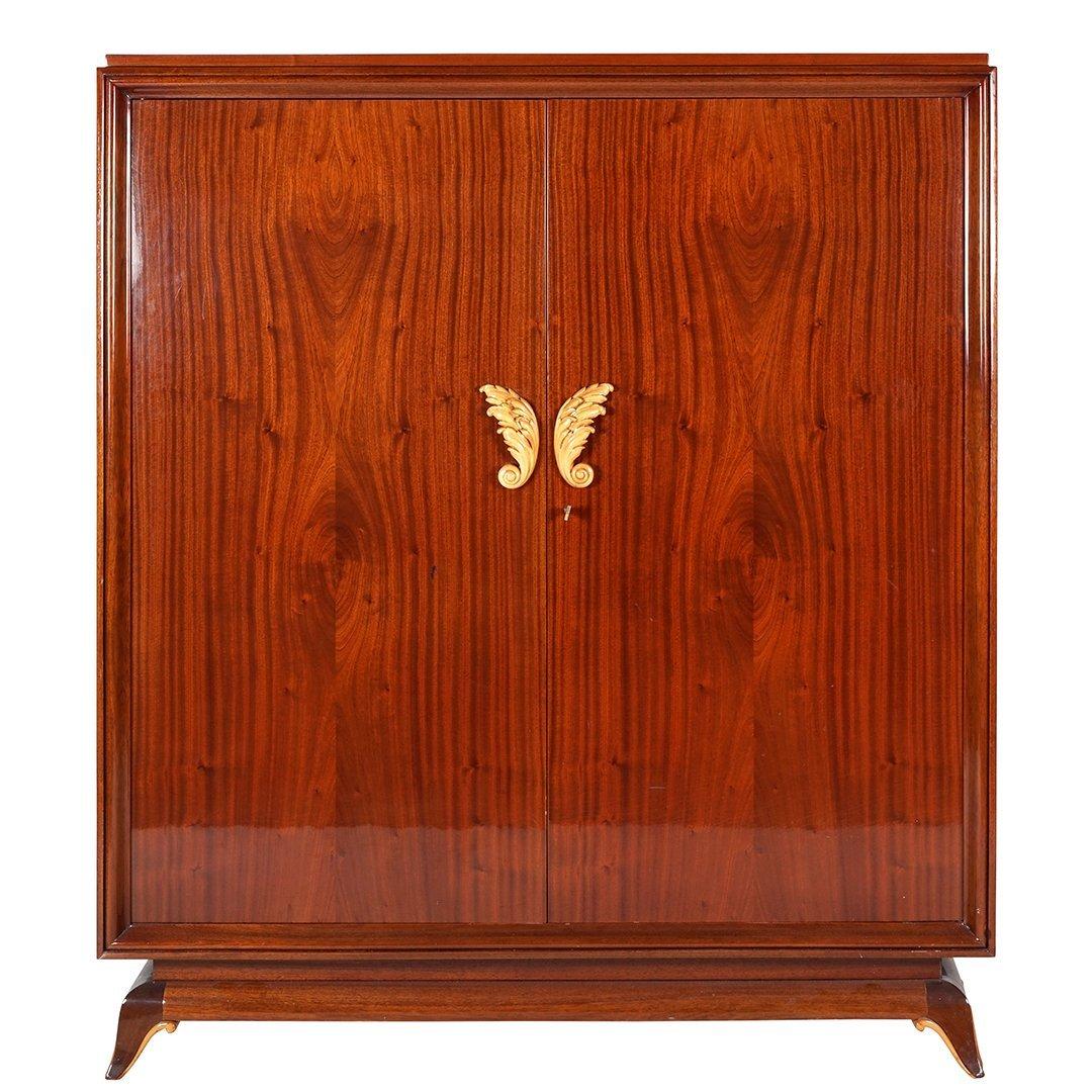 French Art Deco mahogany armoire
