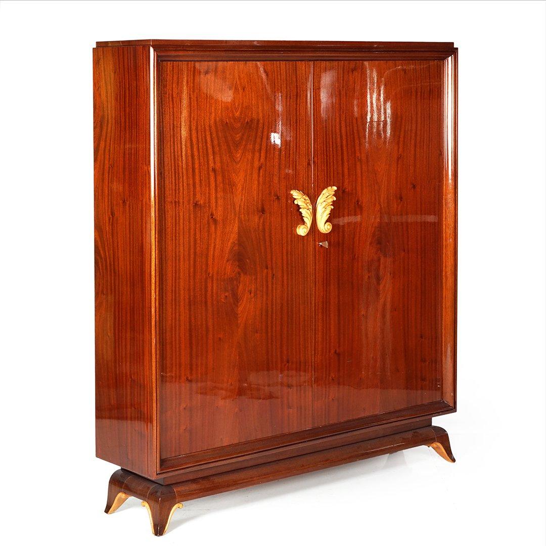French Art Deco mahogany armoire - 2
