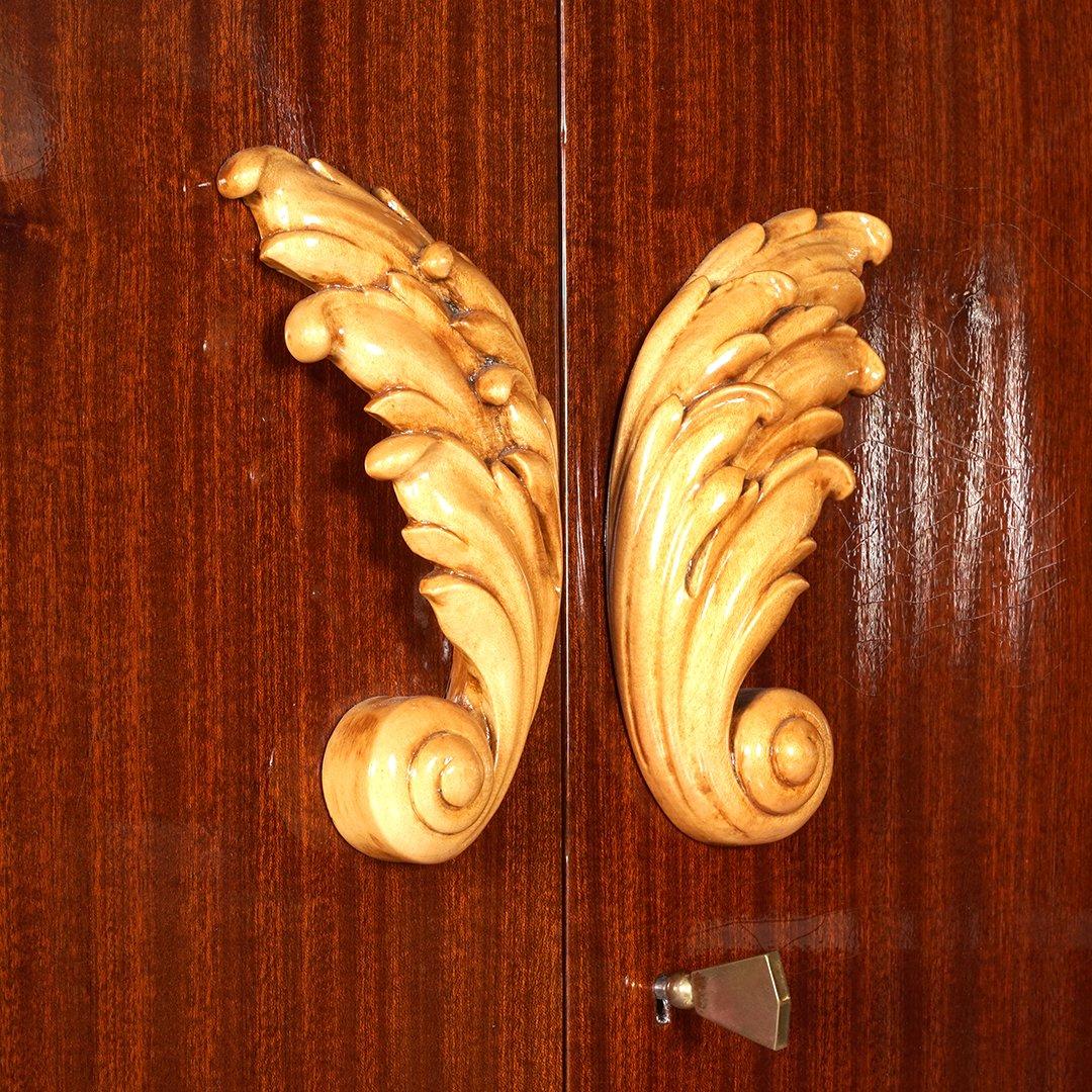 French Art Deco mahogany armoire - 4
