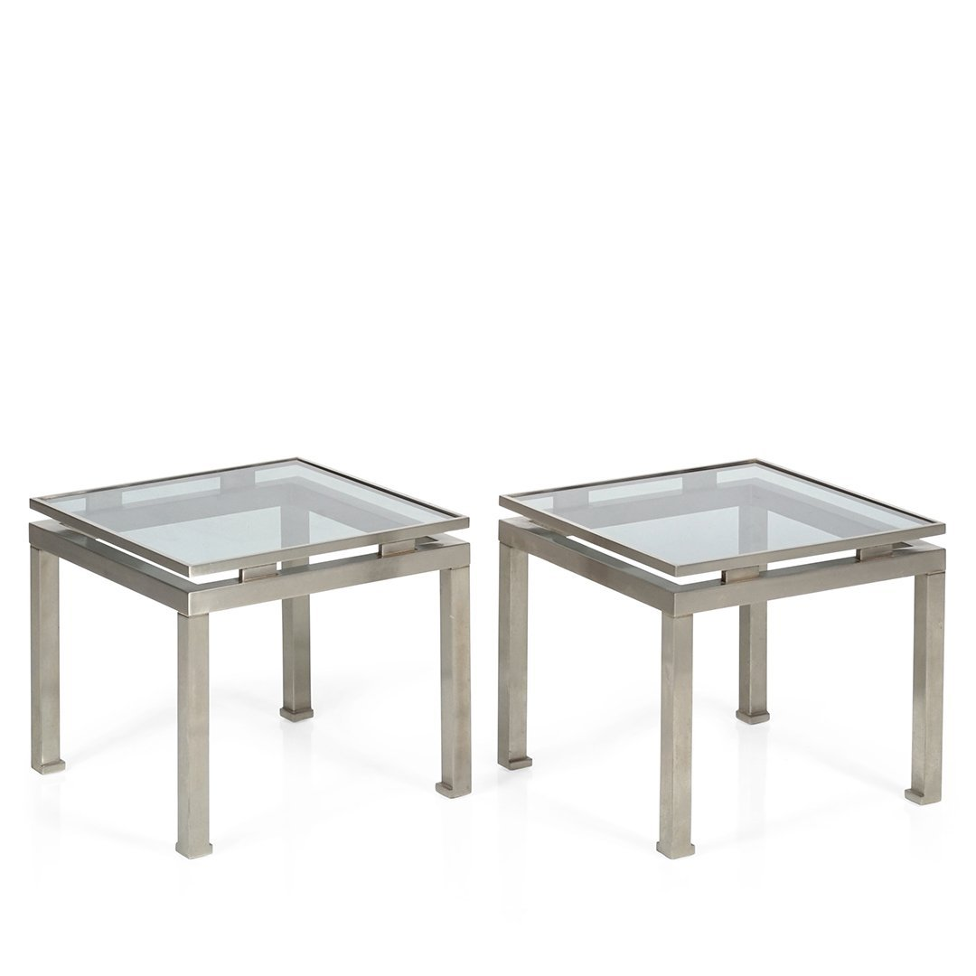 Guy Lefevre steel side tables