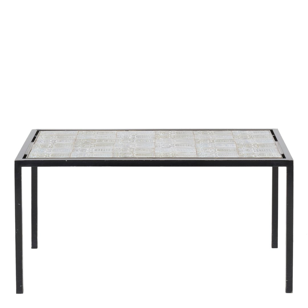 French ceramic tiled coffee table - 2