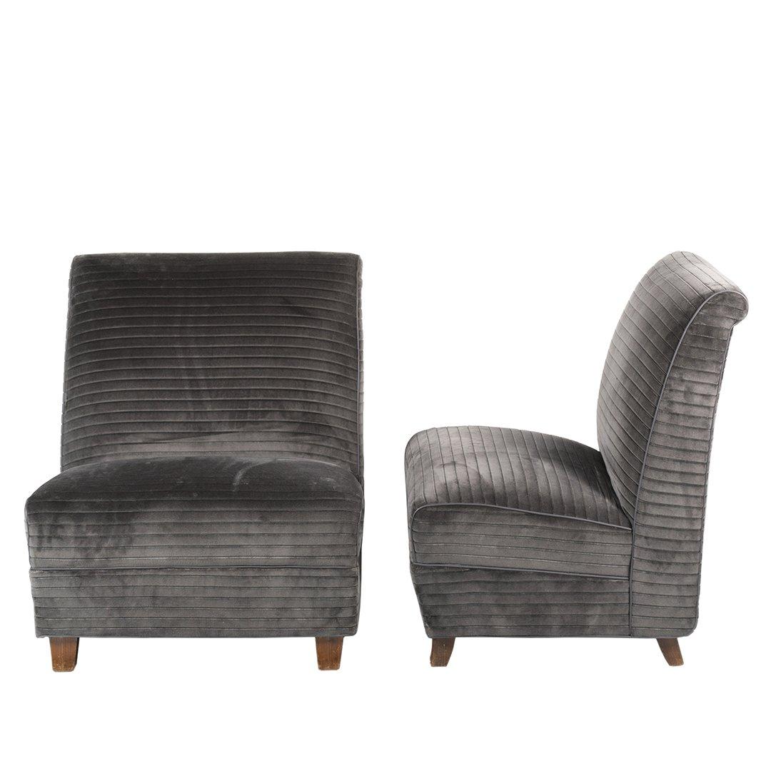 Eugene Schoen custom slipper chairs (2) - 2