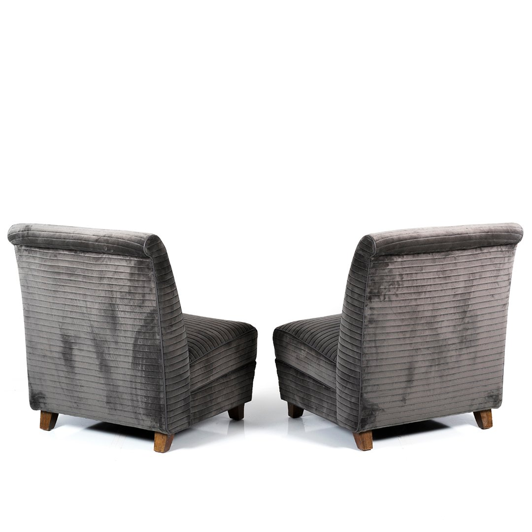Eugene Schoen custom slipper chairs (2) - 3