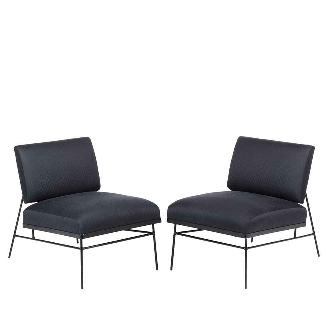 Mid-century slipper chairs (2)