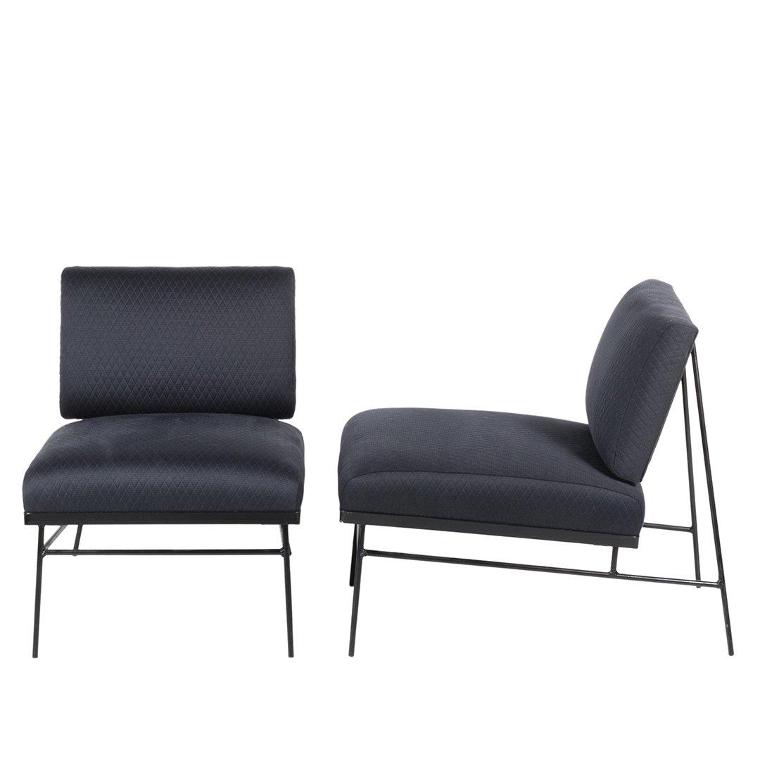 Mid-century slipper chairs (2) - 2