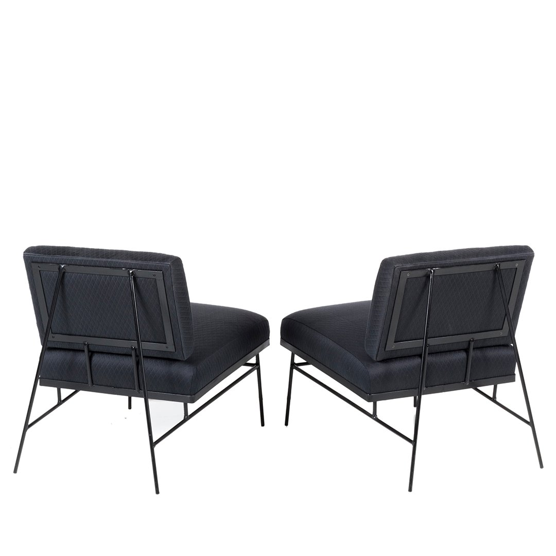 Mid-century slipper chairs (2) - 3
