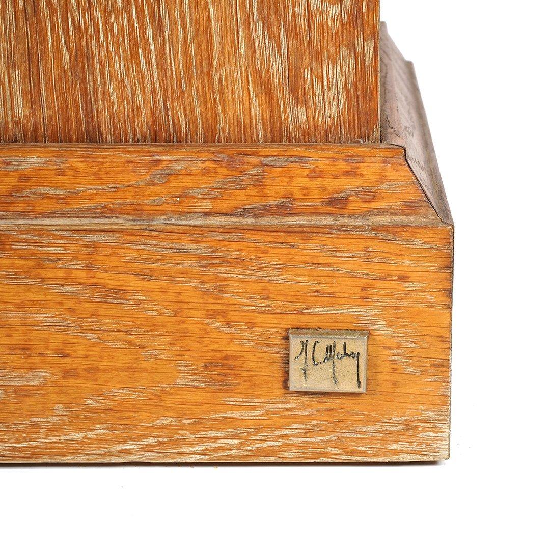 Christian Mahey oak pedestals - 2