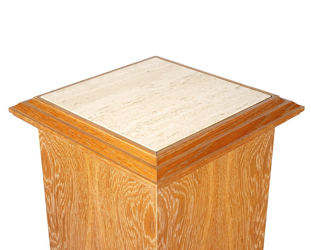 Christian Mahey oak pedestals - 3
