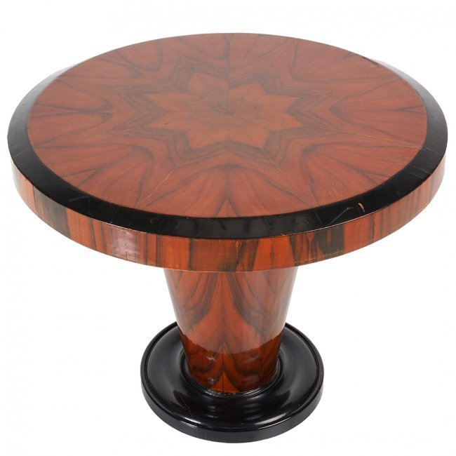 French Art Deco macassar ebony table - 2