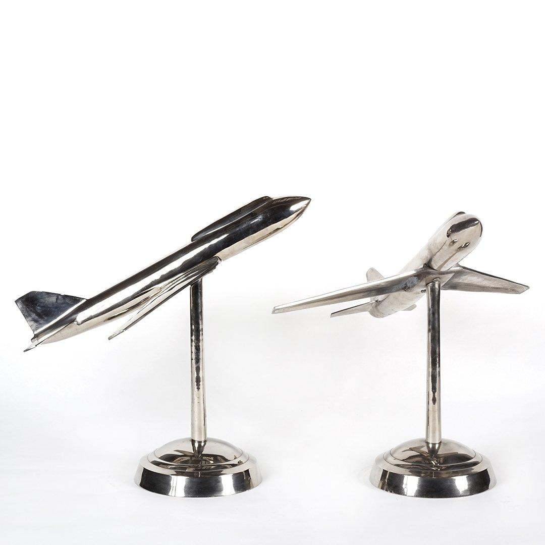 Aluminum airplane sculptures (2) - 2