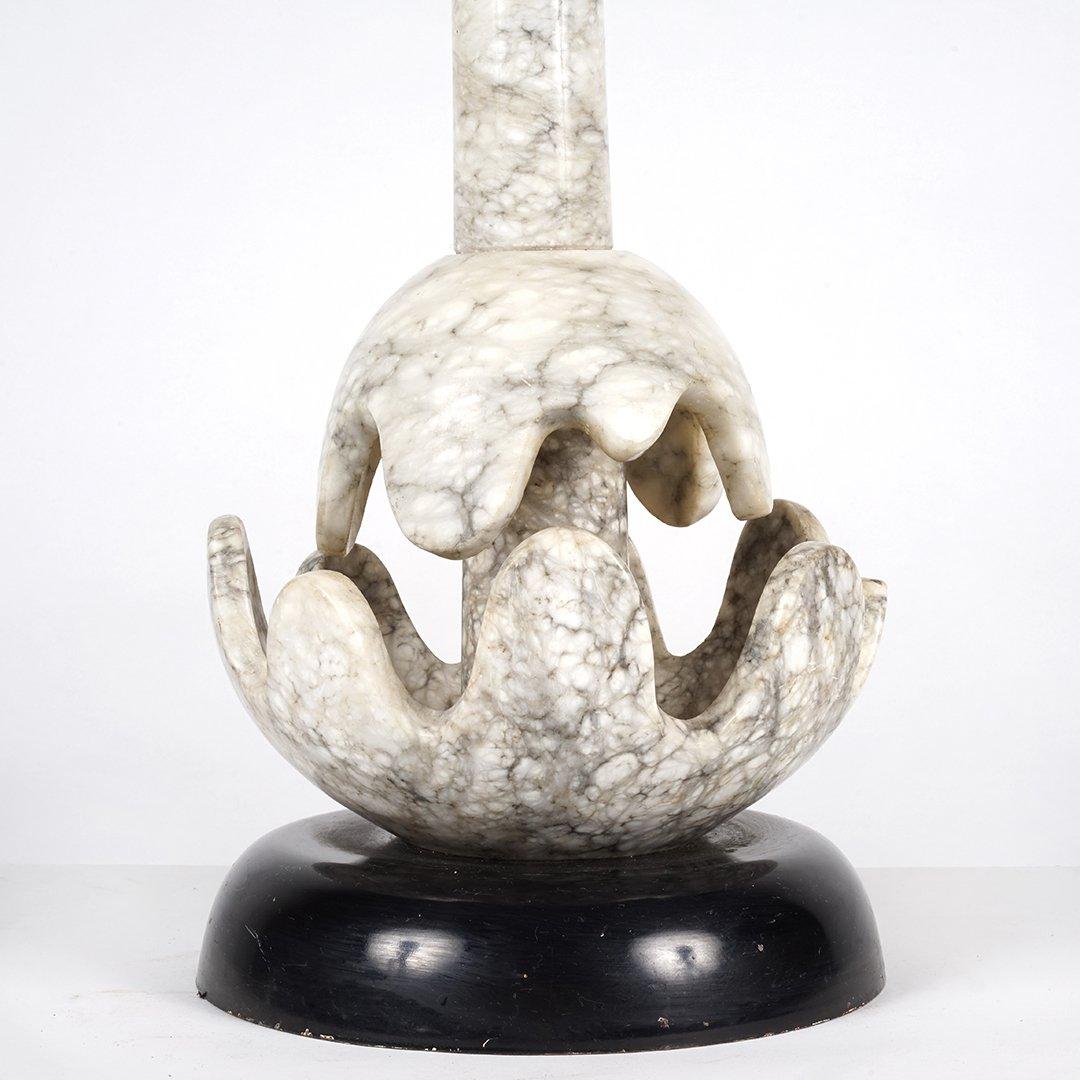 Art Deco alabaster lamp - 2