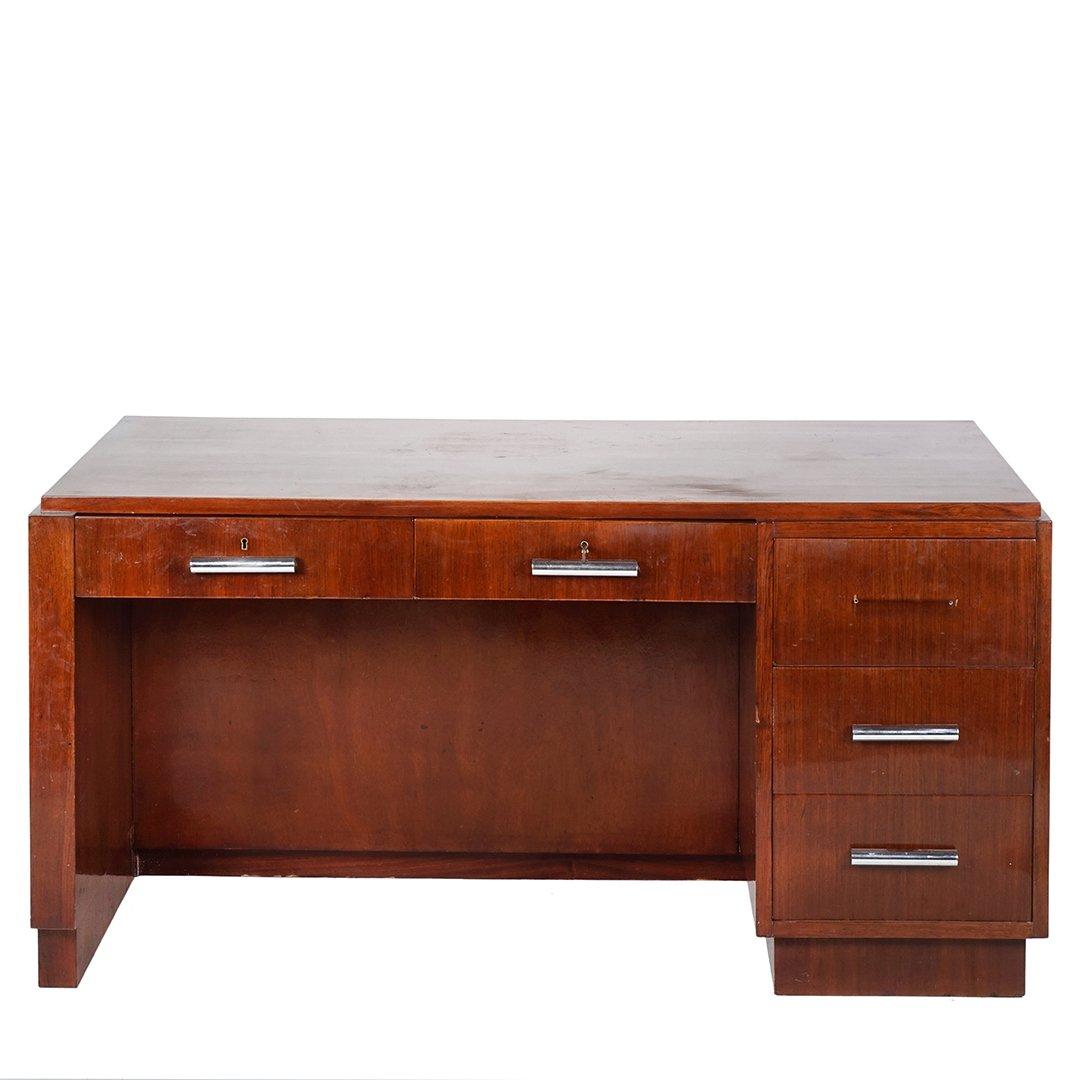 Art Deco mahogany desk - 2
