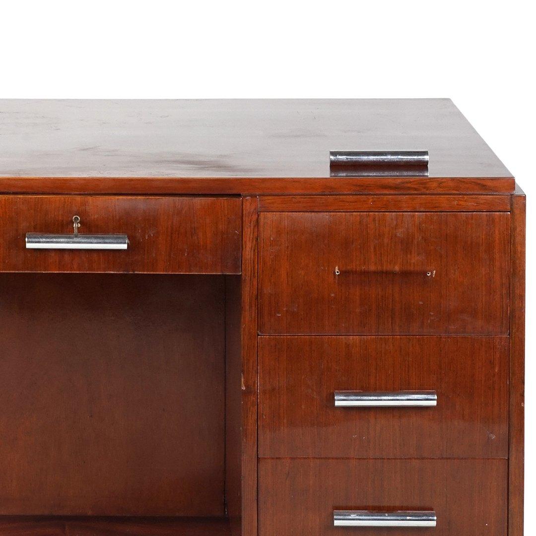 Art Deco mahogany desk - 3