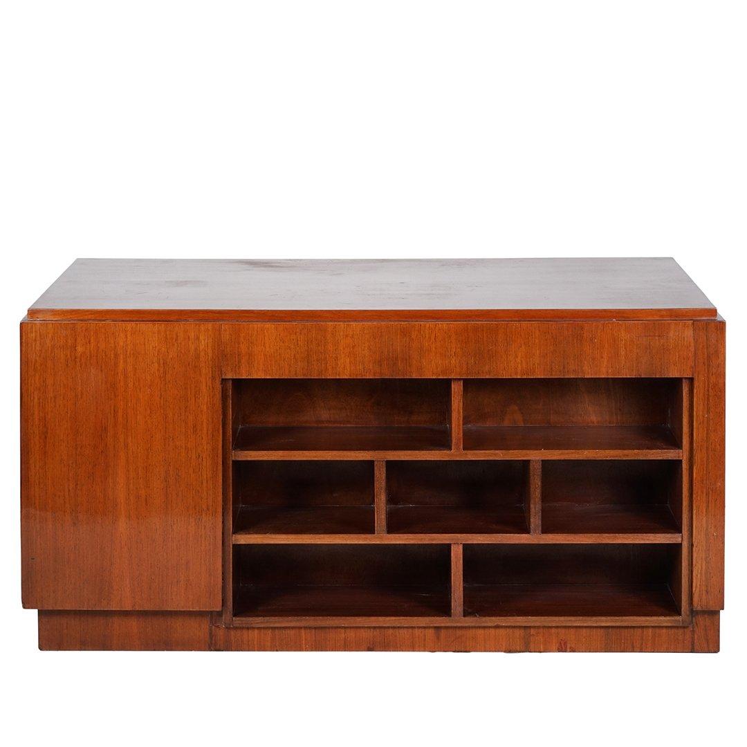 Art Deco mahogany desk - 4