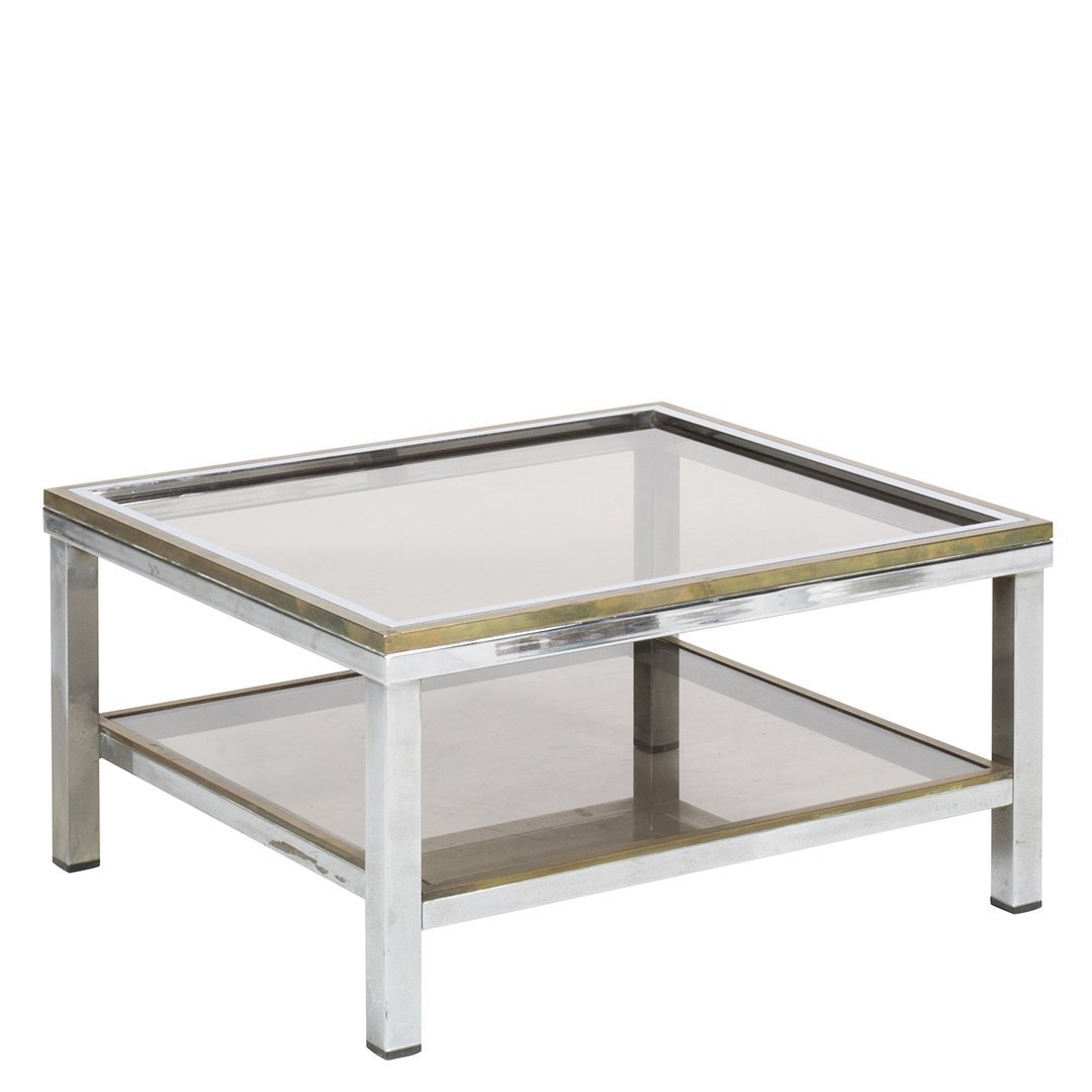 Willy Rizzo brass cocktail table