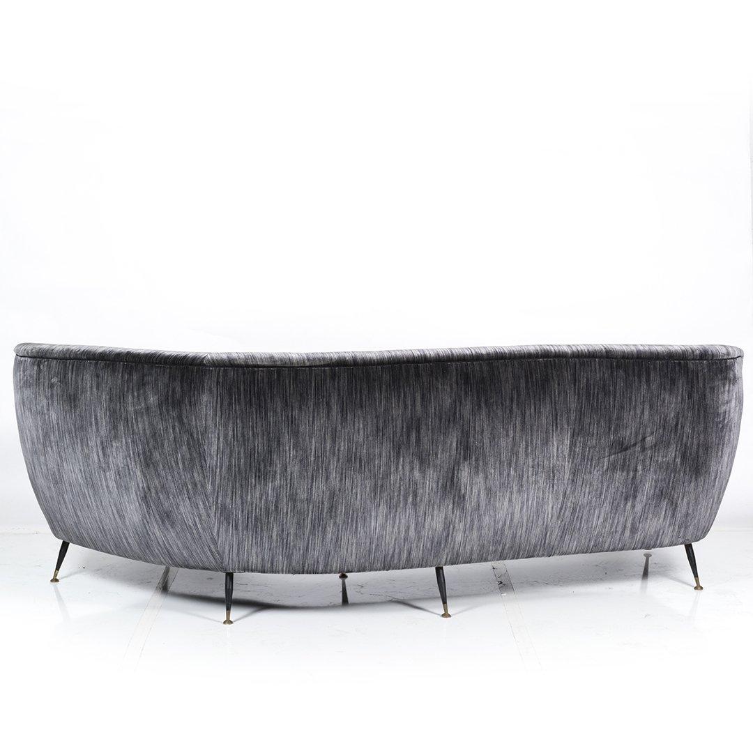 Italian Curved silk velvet sofa - 3
