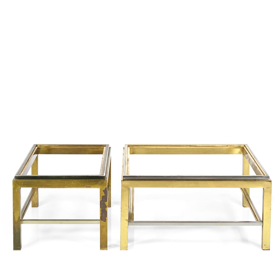 Chrome and brass coffee table frames (2) - 2