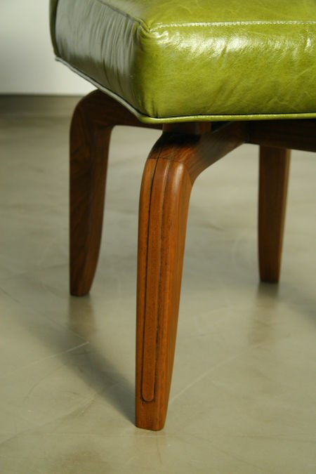 Monteverdi-Young leather and walnut side chairs (2) - 3