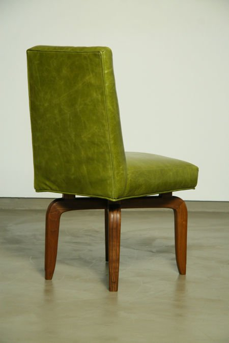 Monteverdi-Young leather and walnut side chairs (2) - 5