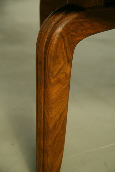 Monteverdi-Young leather and walnut side chairs (2) - 8