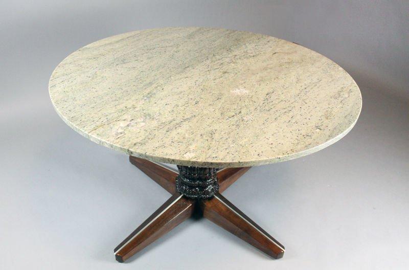 Monteverdi-Young walnut game table - 2