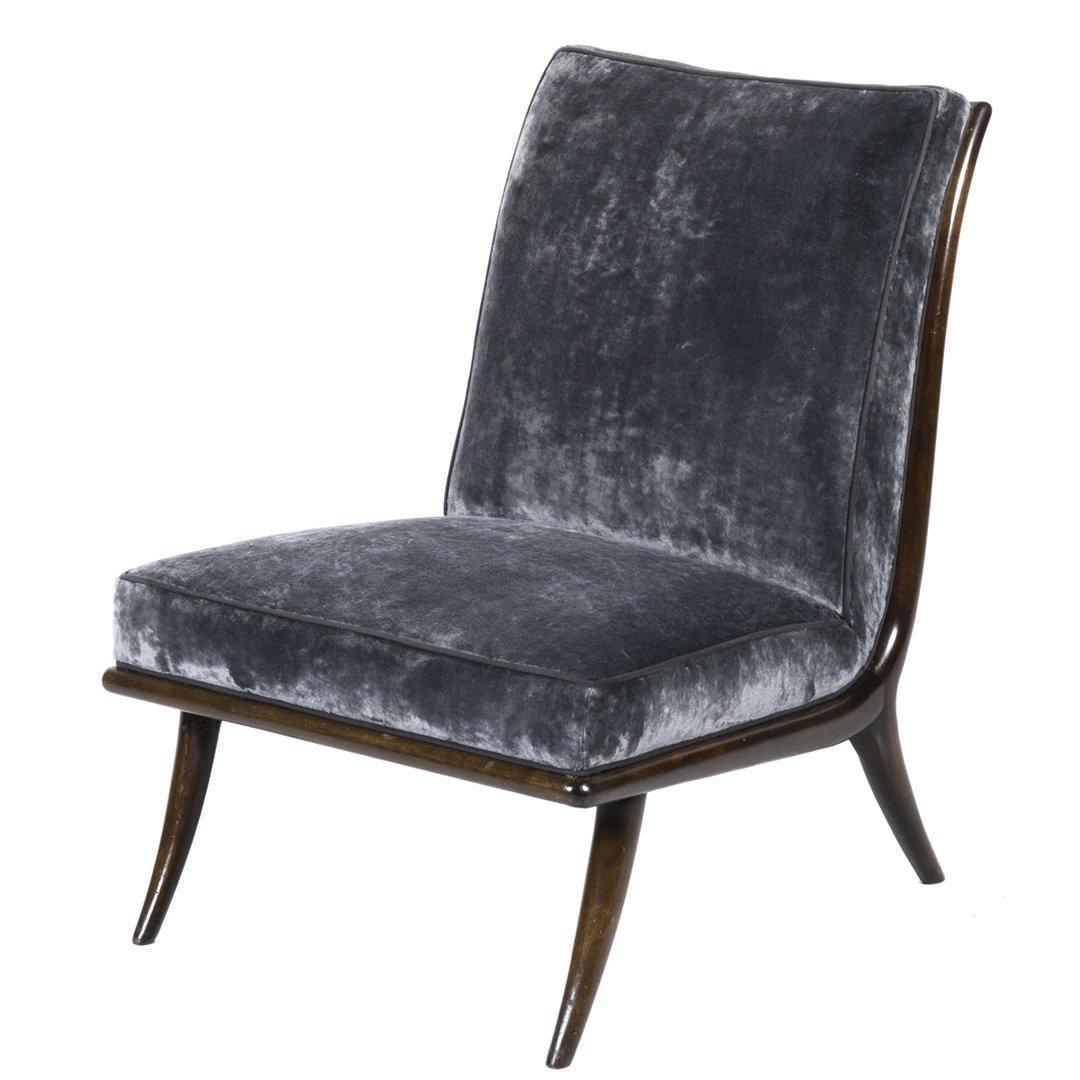 T.H. Robsjohn-Gibbings slipper chair