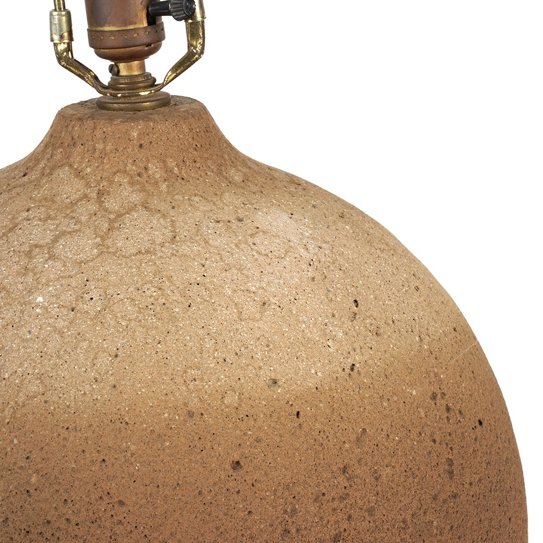 Volcanic glazed table lamp - 2