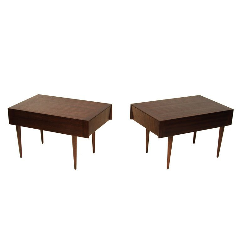 Brown-Saltman mahogany side tables (2)