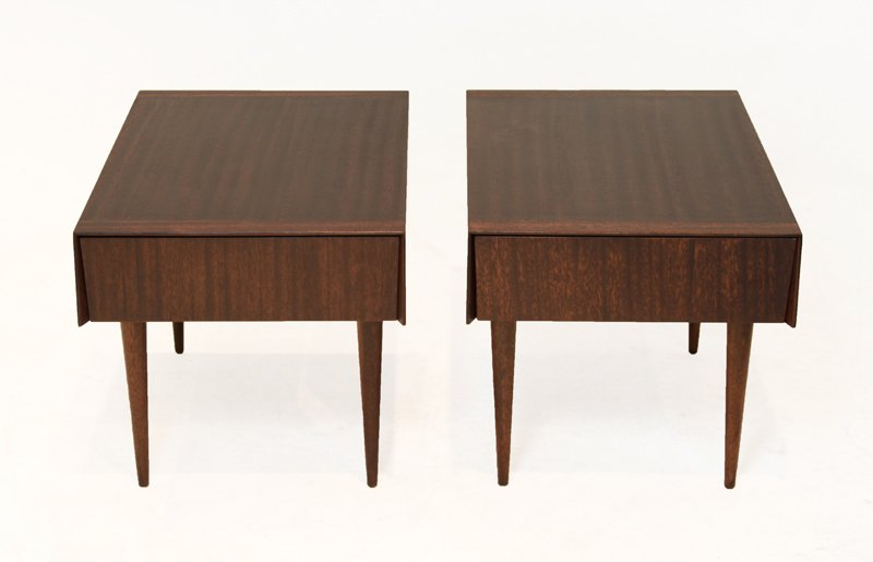 Brown-Saltman mahogany side tables (2) - 2