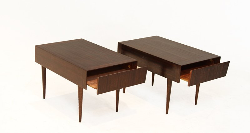 Brown-Saltman mahogany side tables (2) - 3