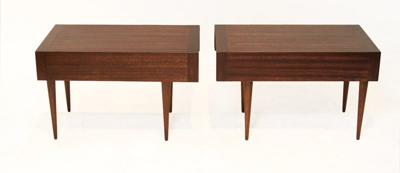 Brown-Saltman mahogany side tables (2) - 4