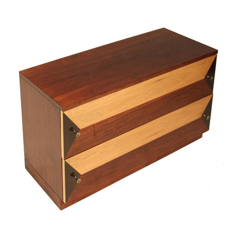 Milo Baughman wooden petite cabinet