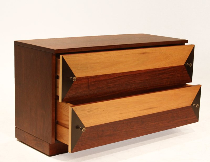Milo Baughman wooden petite cabinet - 2