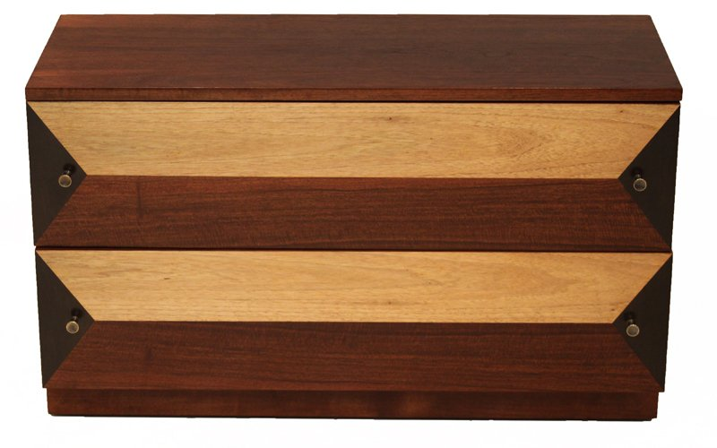 Milo Baughman wooden petite cabinet - 3