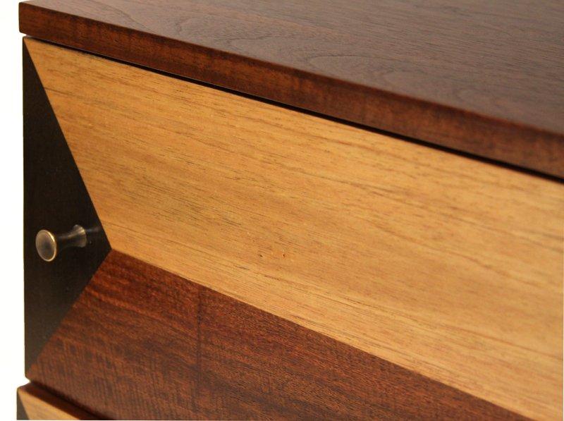 Milo Baughman wooden petite cabinet - 4