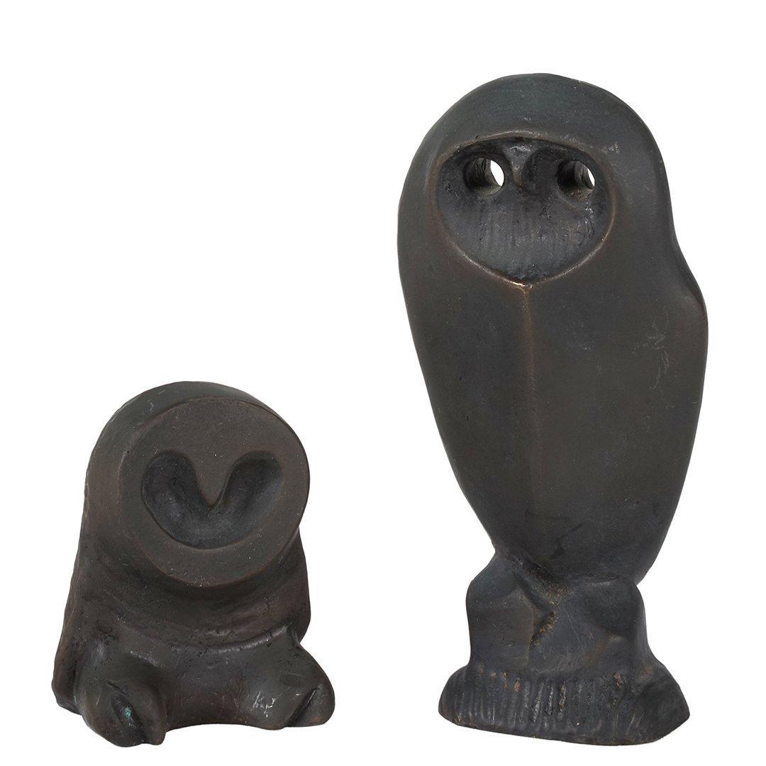 Allan Houser bronze owls (2)