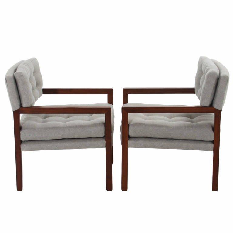 Pair of walnut armchairs (2) - 2