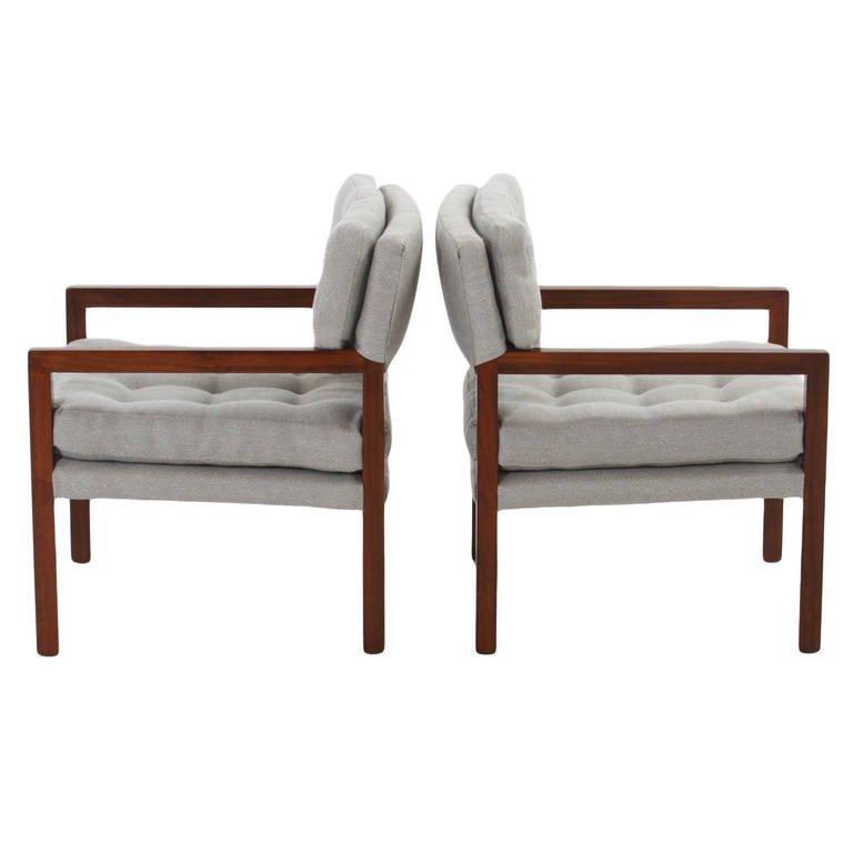 Pair of walnut armchairs (2) - 4