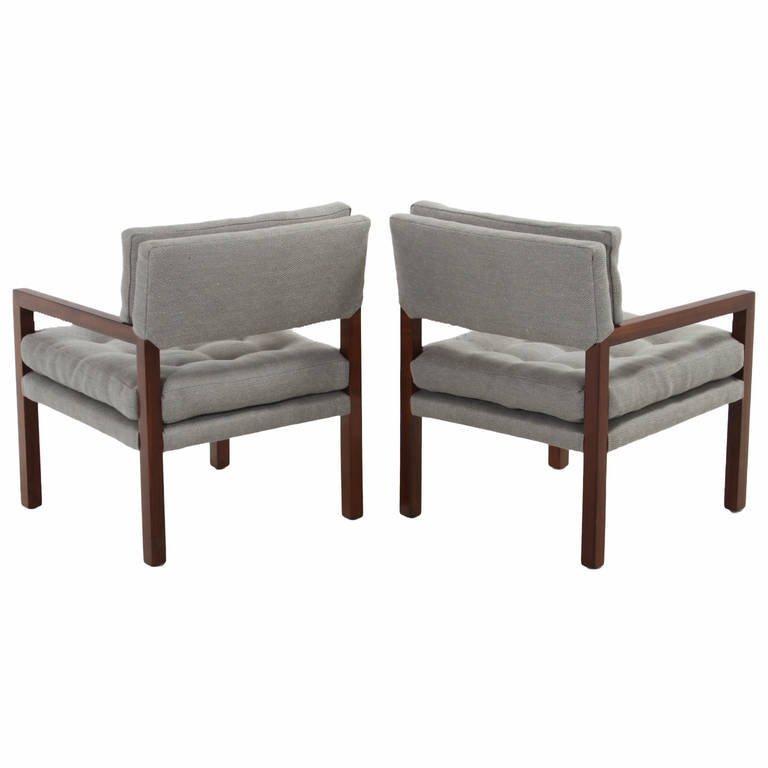 Pair of walnut armchairs (2) - 5