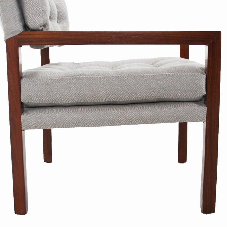 Pair of walnut armchairs (2) - 6