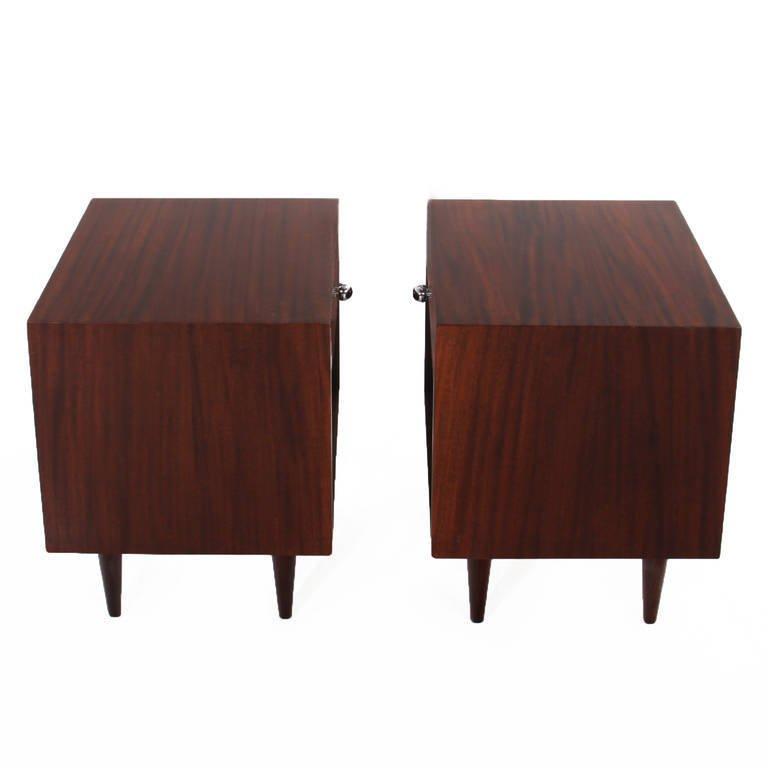 Harvey Probber walnut nightstands (2) - 3