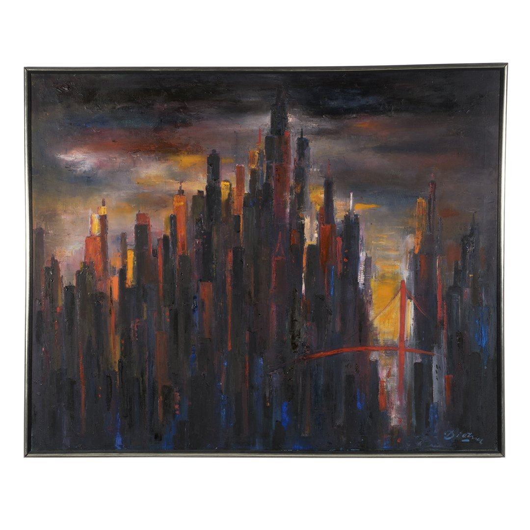 Dietrich Grunewald cityscape painting