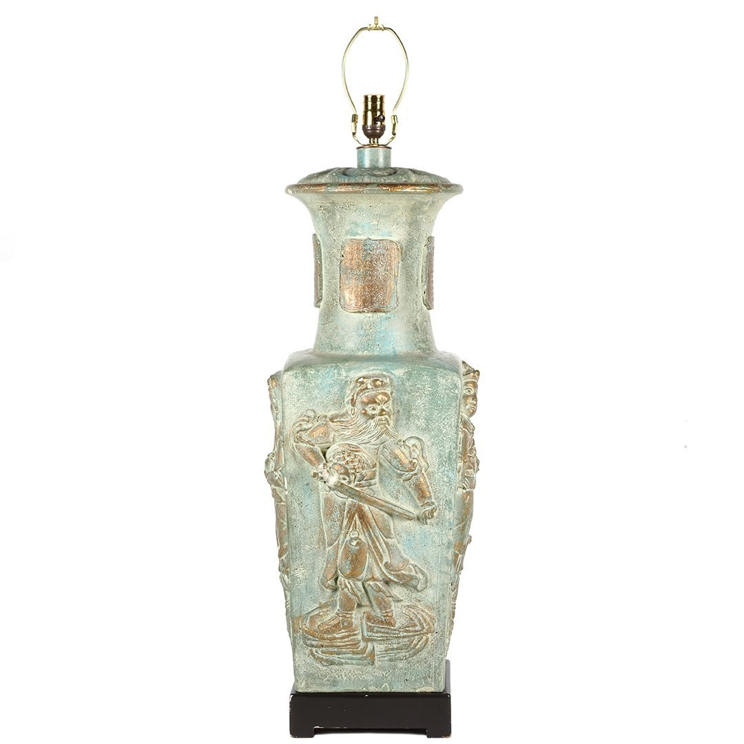 Monumental ceramic lamp