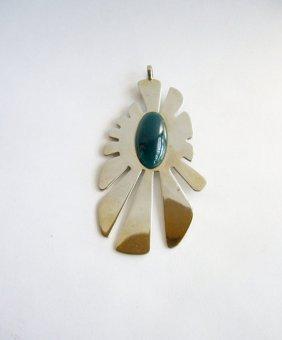 Pierre Cardin chrome and plastic pendant